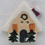86160 - House With Snow 1in x 1in - 1 per pkg